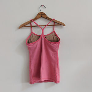 Lululemon | Power Y Tank *Luon Pink with Stripes